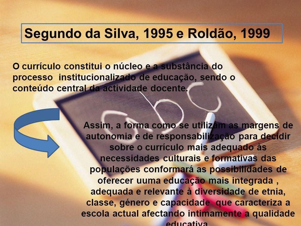 Segundo da Silva, 1995 e Roldão, 1999