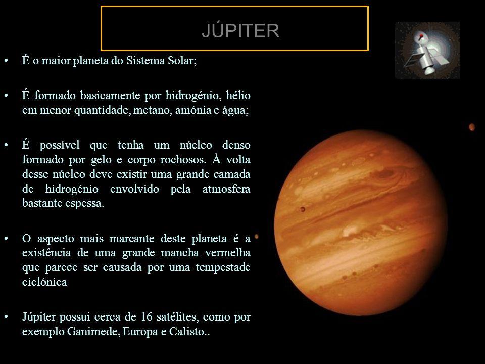 JÚPITER É o maior planeta do Sistema Solar;