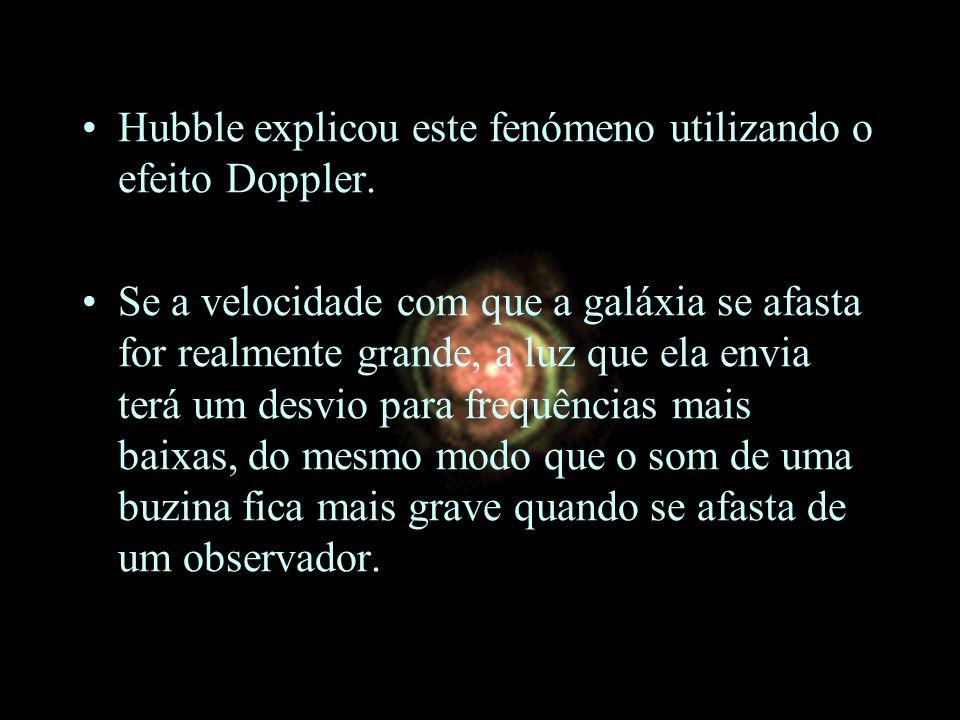 Hubble explicou este fenómeno utilizando o efeito Doppler.