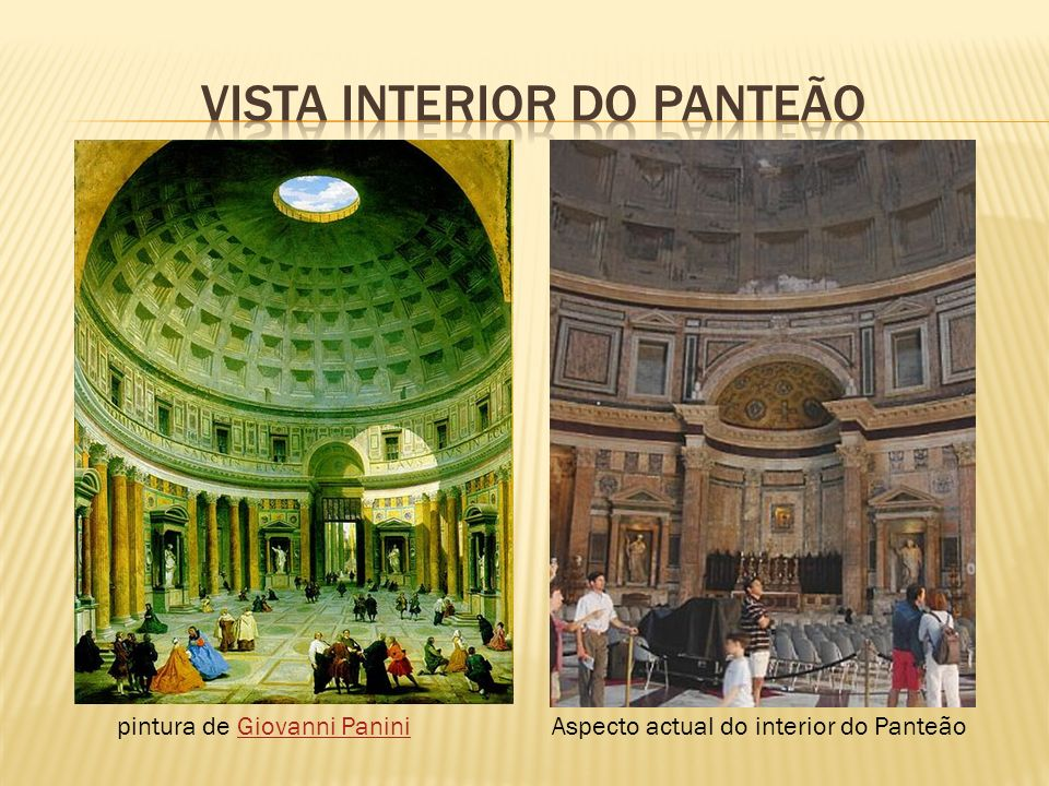 VISTA INTERIOR DO PANTEÃO