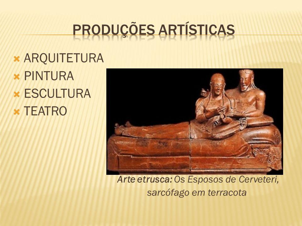 PRODUÇÕES ARTÍSTICAS ARQUITETURA PINTURA ESCULTURA TEATRO