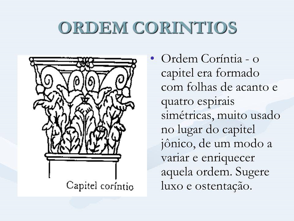 ORDEM CORINTIOS