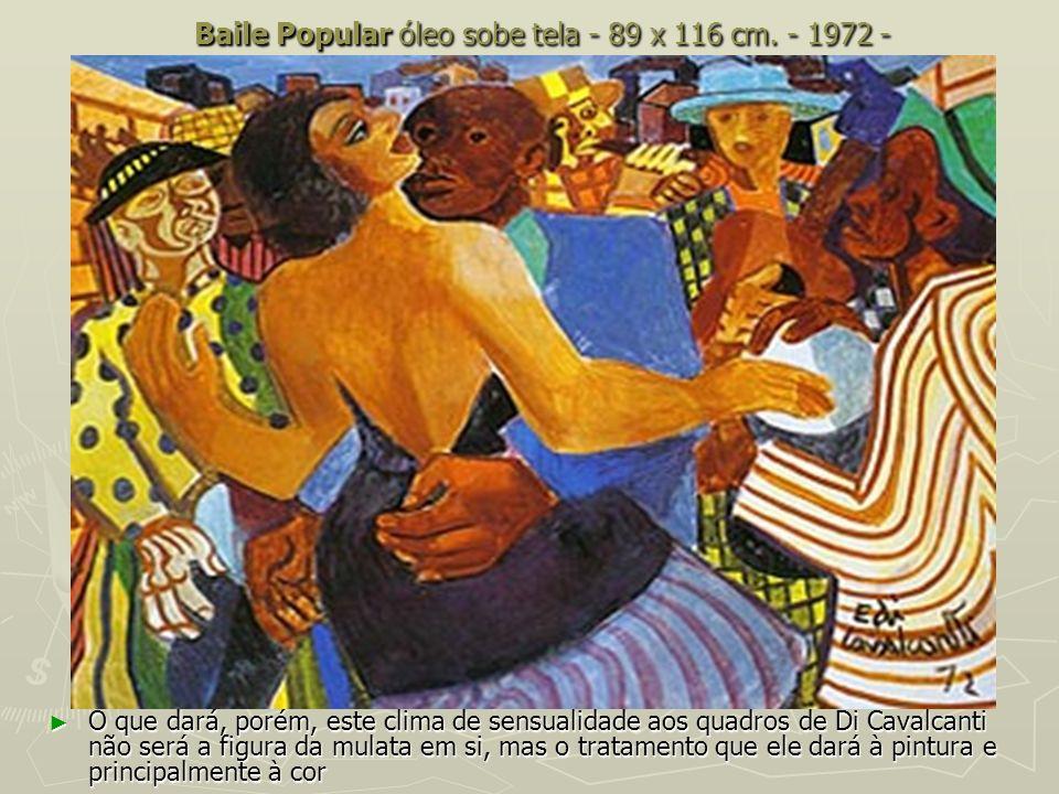 Baile Popular óleo sobe tela - 89 x 116 cm. - 1972 -