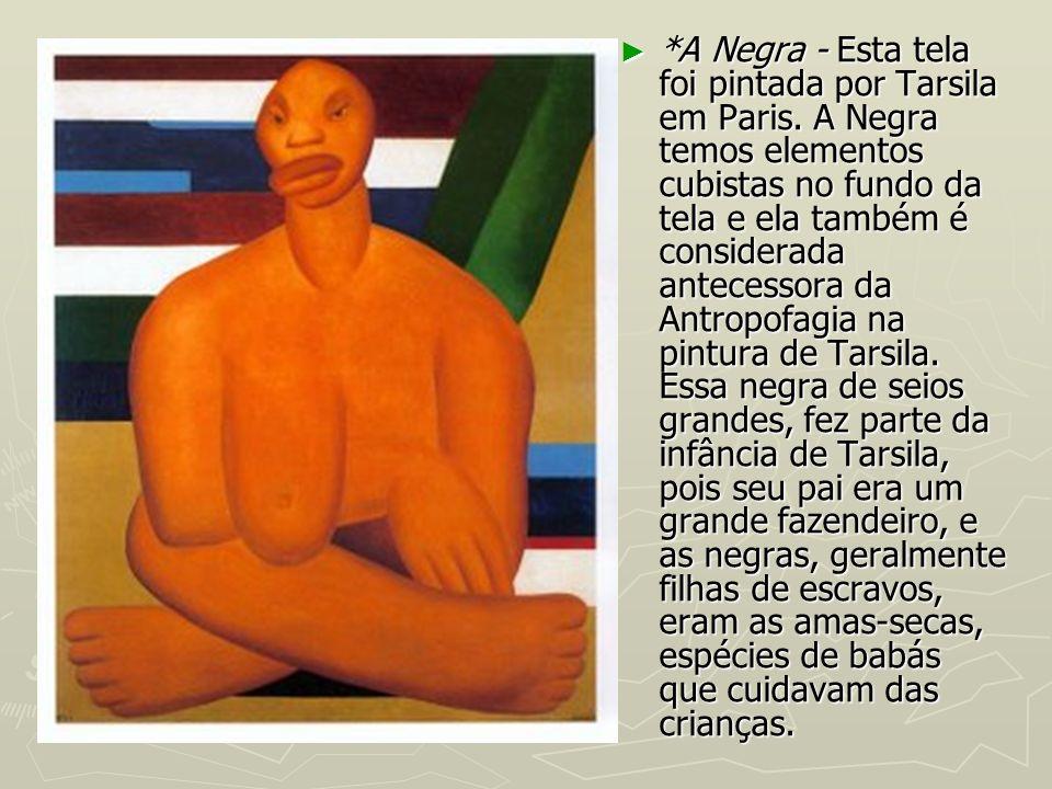 A Negra - Esta tela foi pintada por Tarsila em Paris