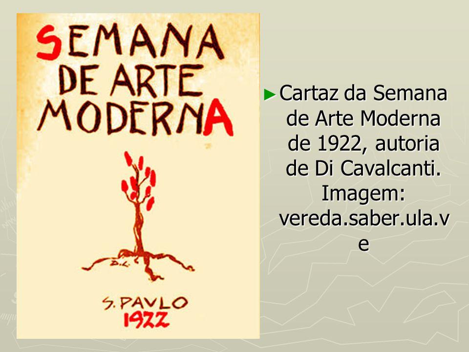 Cartaz da Semana de Arte Moderna de 1922, autoria de Di Cavalcanti