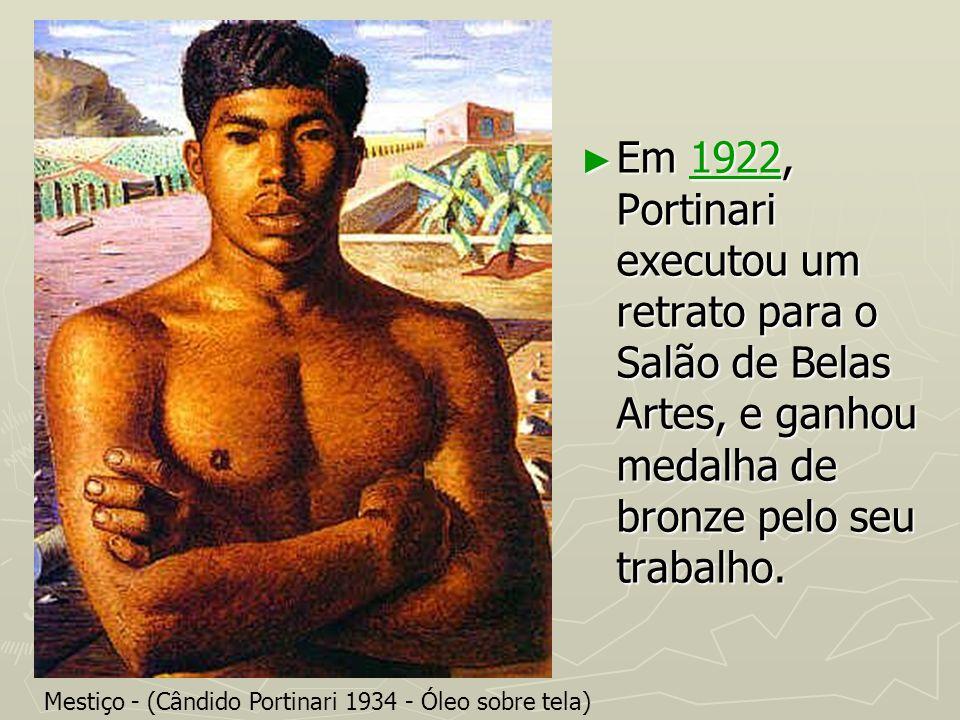 Em 1922, Portinari executou um retrato para o Salão de Belas Artes, e ganhou medalha de bronze pelo seu trabalho.