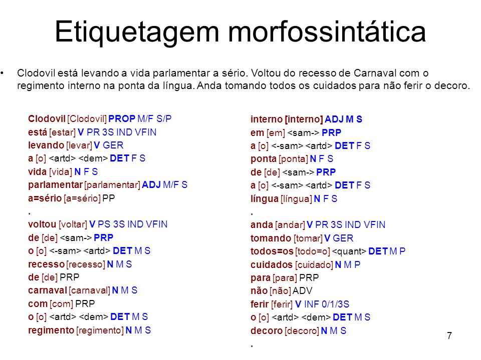Etiquetagem morfossintática