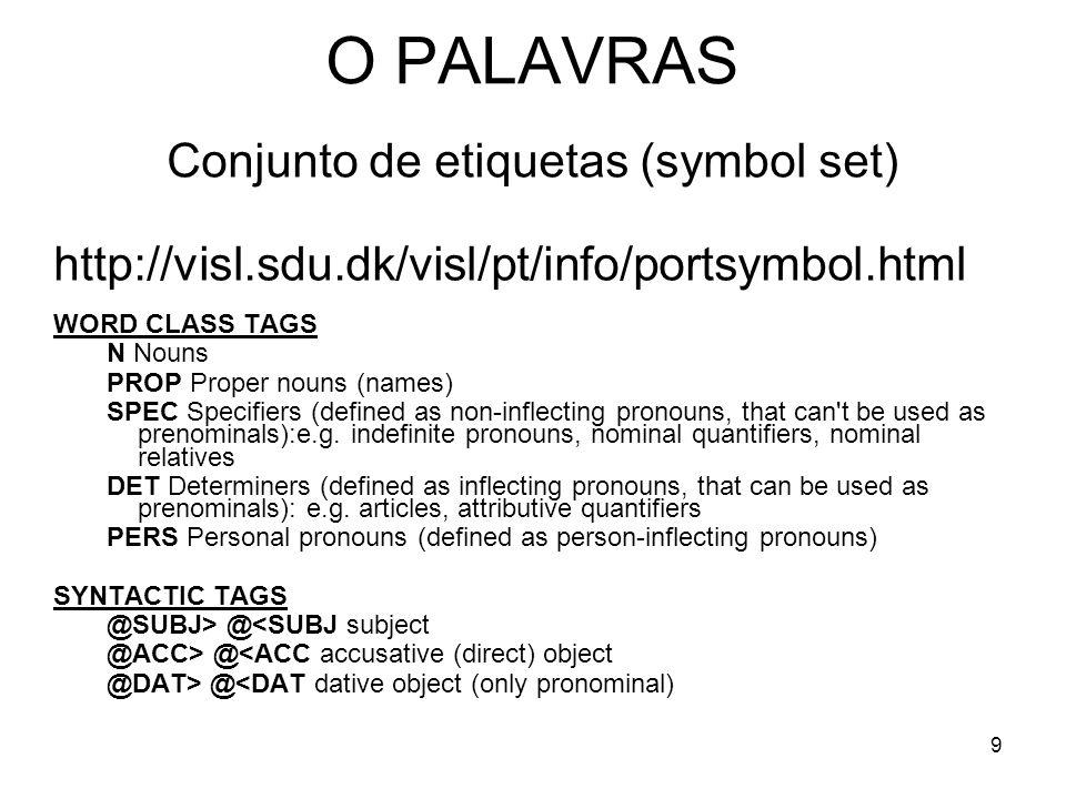 Conjunto de etiquetas (symbol set)