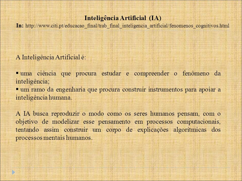 Inteligência Artificial (IA)