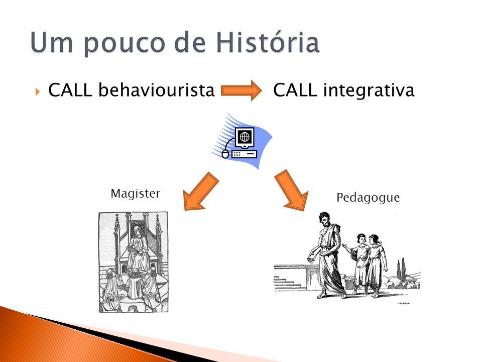 Um pouco de História CALL behaviourista CALL integrativa Magister