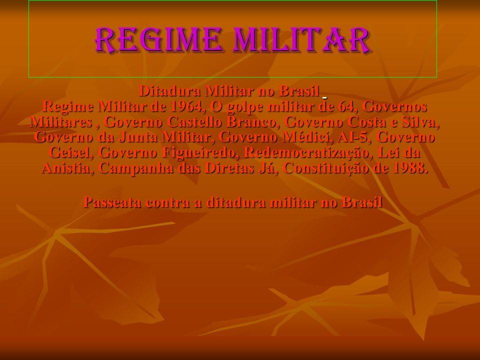 Passeata contra a ditadura militar no Brasil