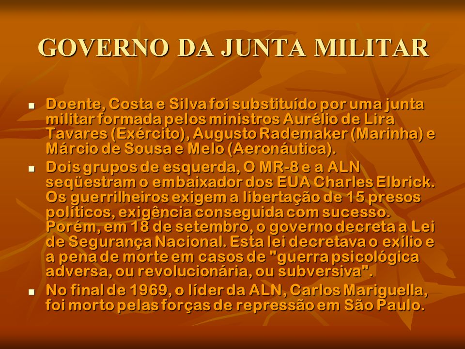 GOVERNO DA JUNTA MILITAR