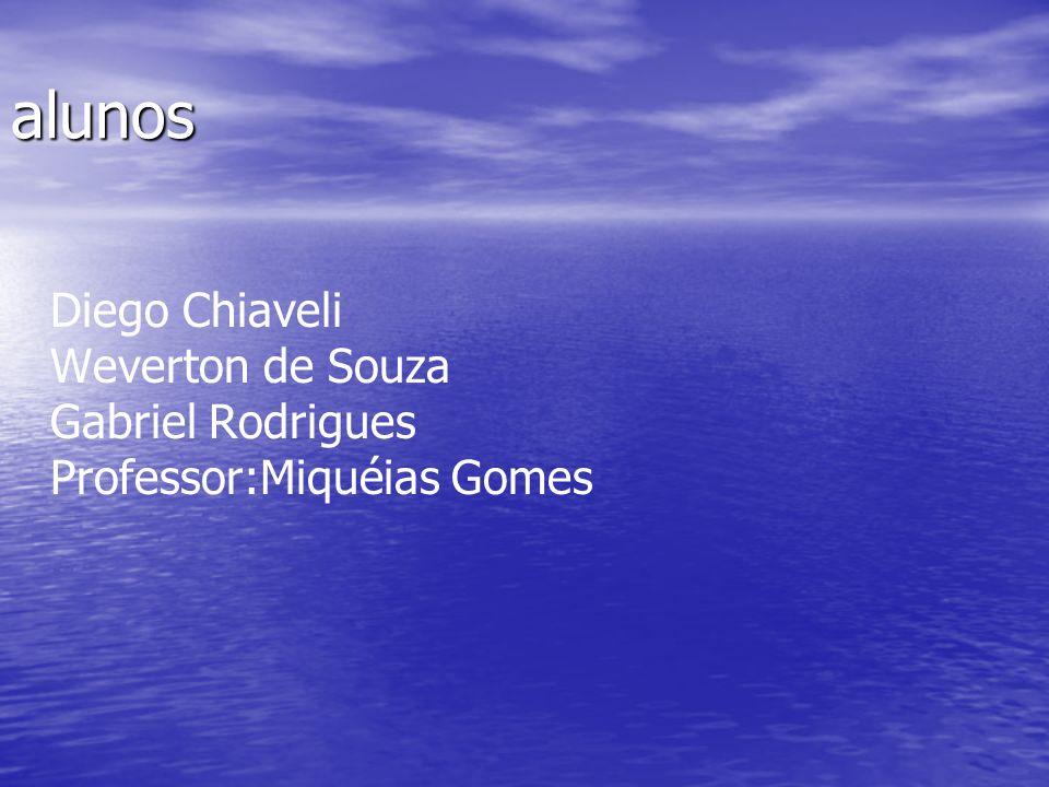 alunos Diego Chiaveli Weverton de Souza Gabriel Rodrigues Professor:Miquéias Gomes