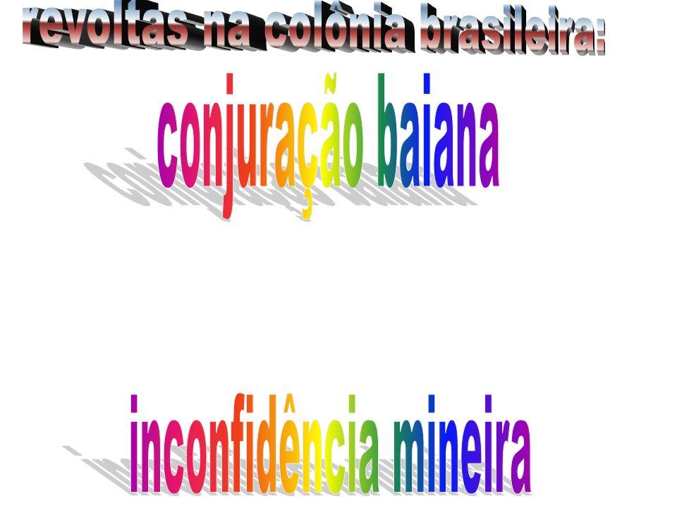 revoltas na colônia brasileira: