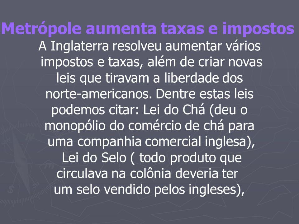 Metrópole aumenta taxas e impostos