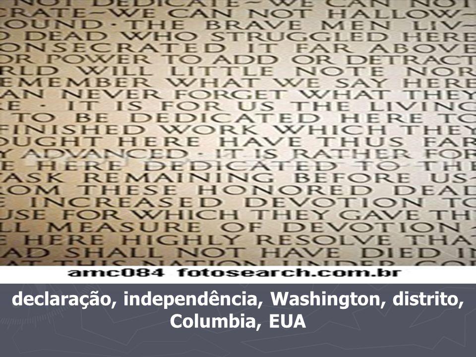 declaração, independência, Washington, distrito, Columbia, EUA