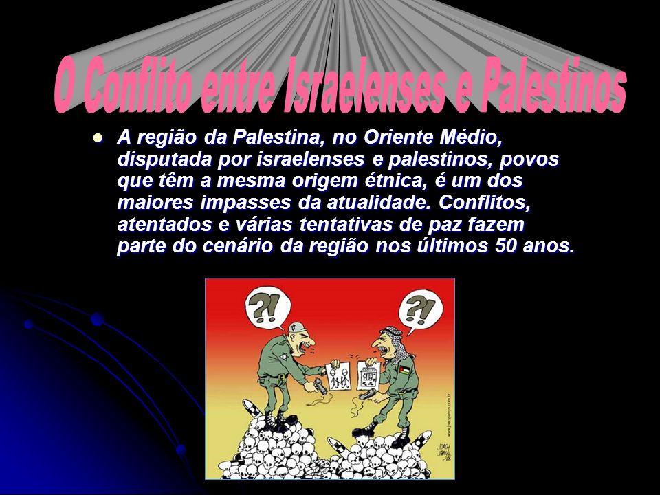 O Conflito entre Israelenses e Palestinos