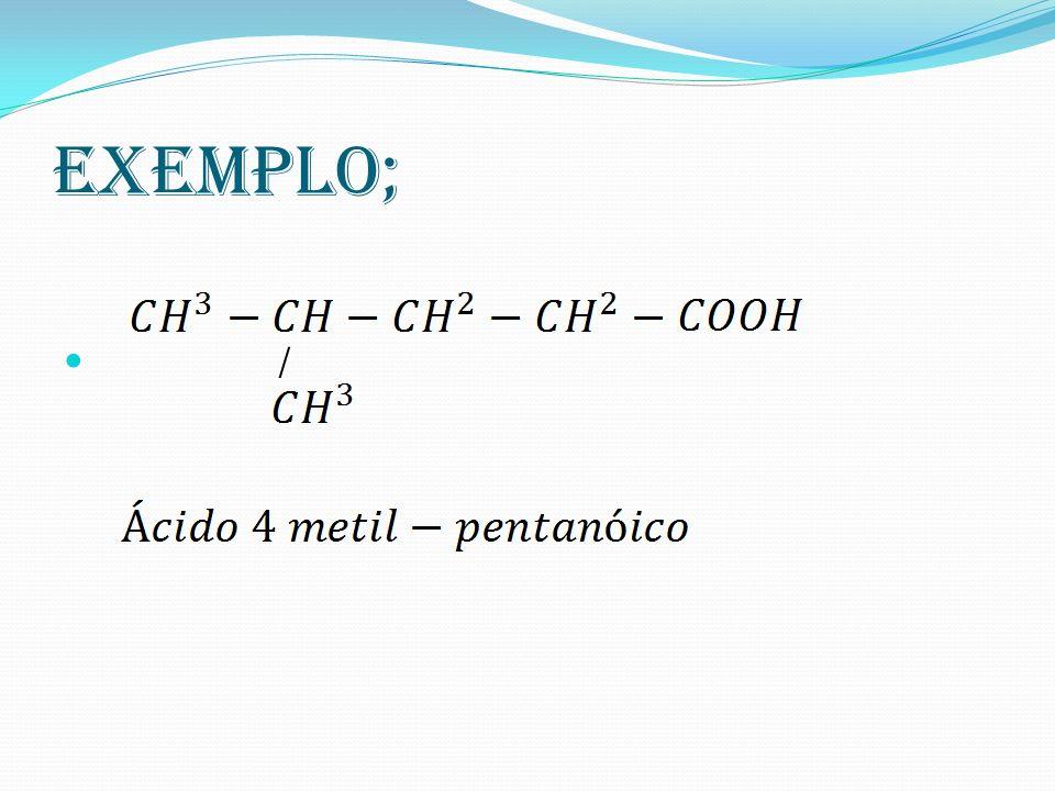 Exemplo; /