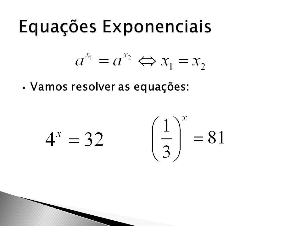 Equações Exponenciais