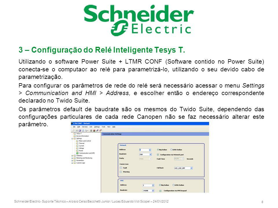 3 – Configuração do Relé Inteligente Tesys T.