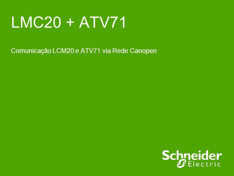 Comunicação LCM20 e ATV71 via Rede Canopen