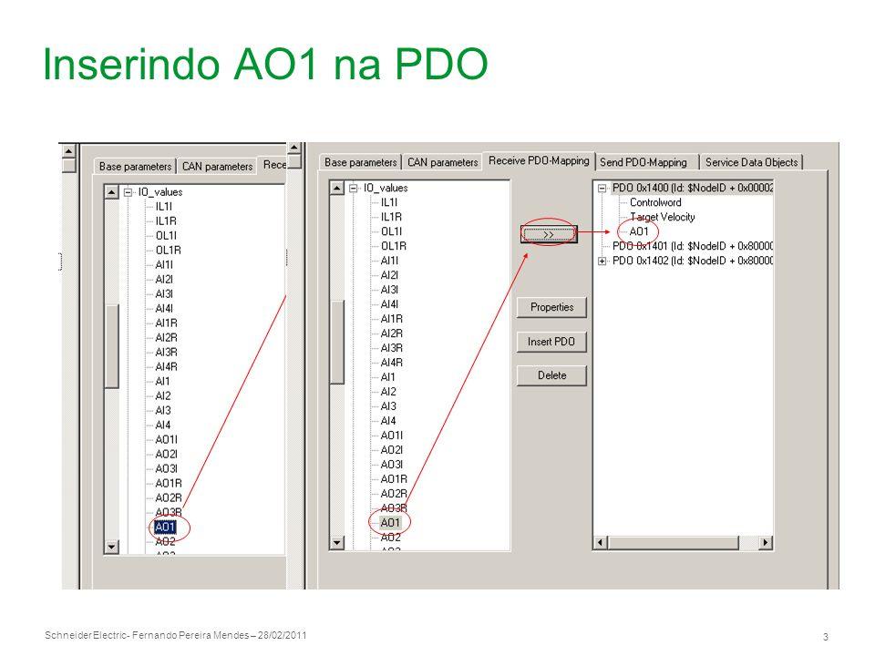Inserindo AO1 na PDO