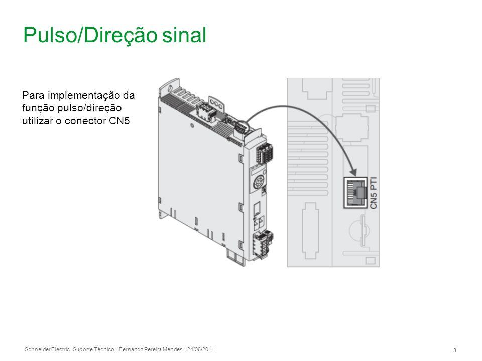 Pulso/Direção sinal Para implementação da função pulso/direção utilizar o conector CN5