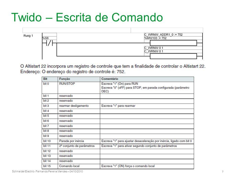 Twido – Escrita de Comando