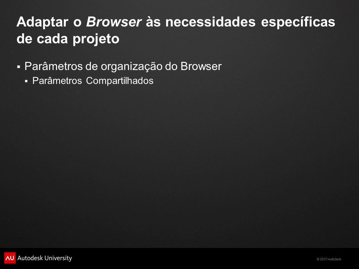 Adaptar o Browser às necessidades específicas de cada projeto