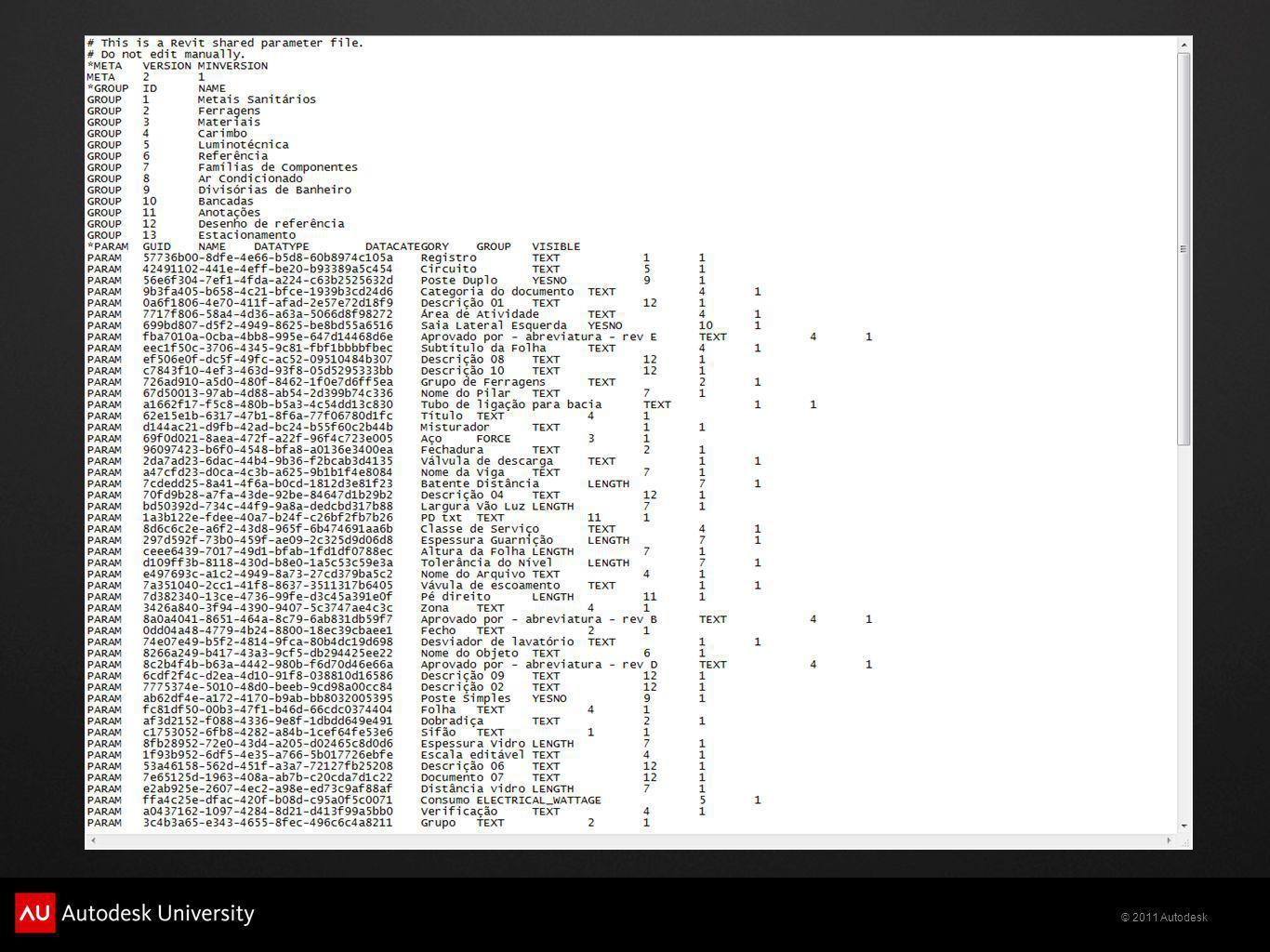 Para criar o arquivo *.txt, selecionar Gerenciar/Parâmetros Compartilhados e dentro do quadro Editar parâmetros compartilhados, clicar em Criar.
