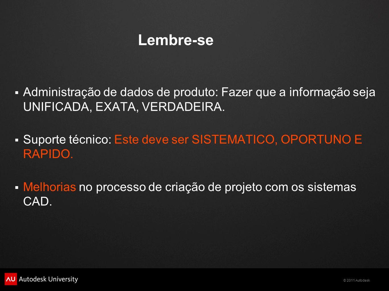 Lembre-se Administração de dados de produto: Fazer que a informação seja UNIFICADA, EXATA, VERDADEIRA.