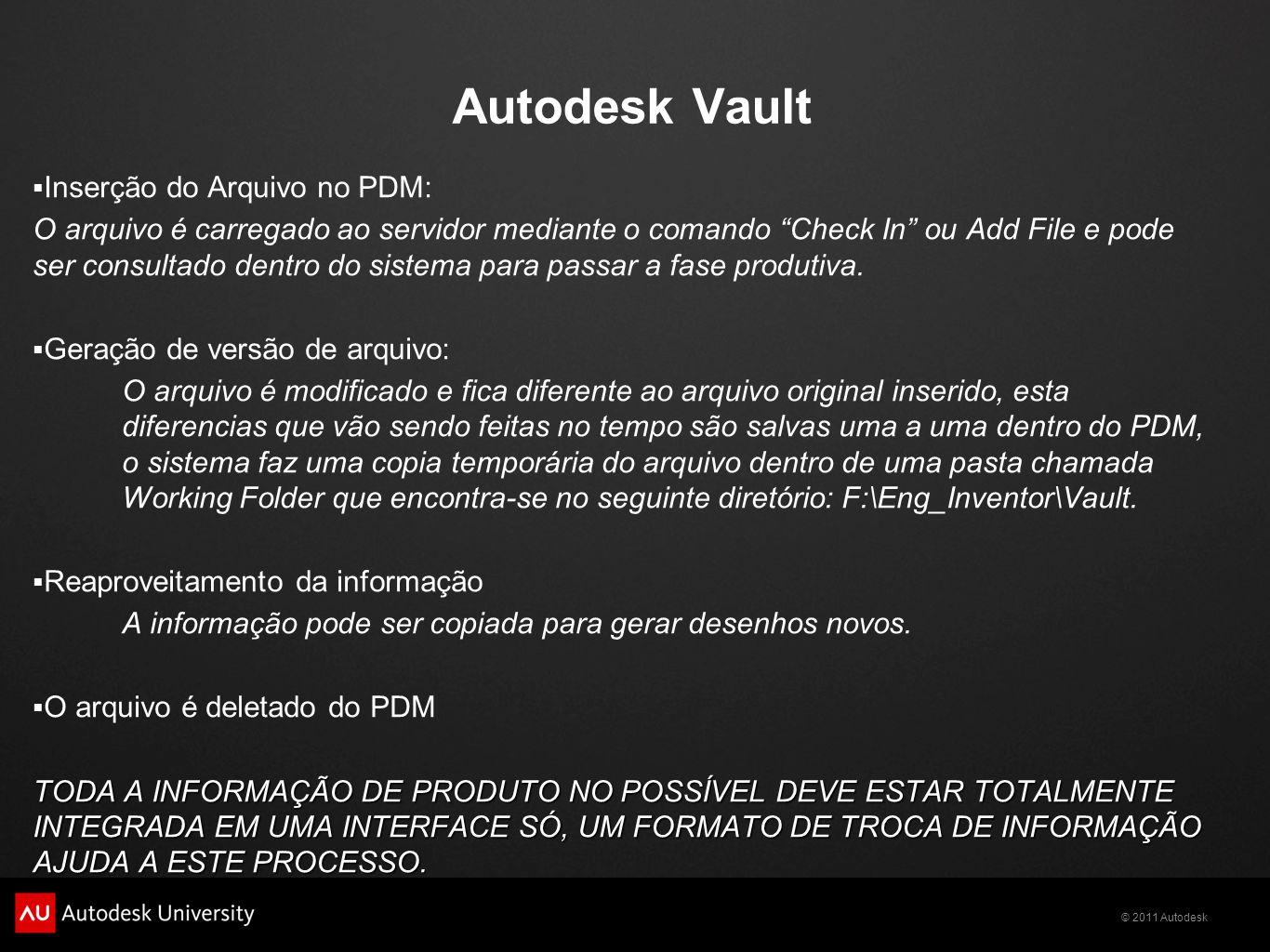 Autodesk Vault Inserção do Arquivo no PDM: