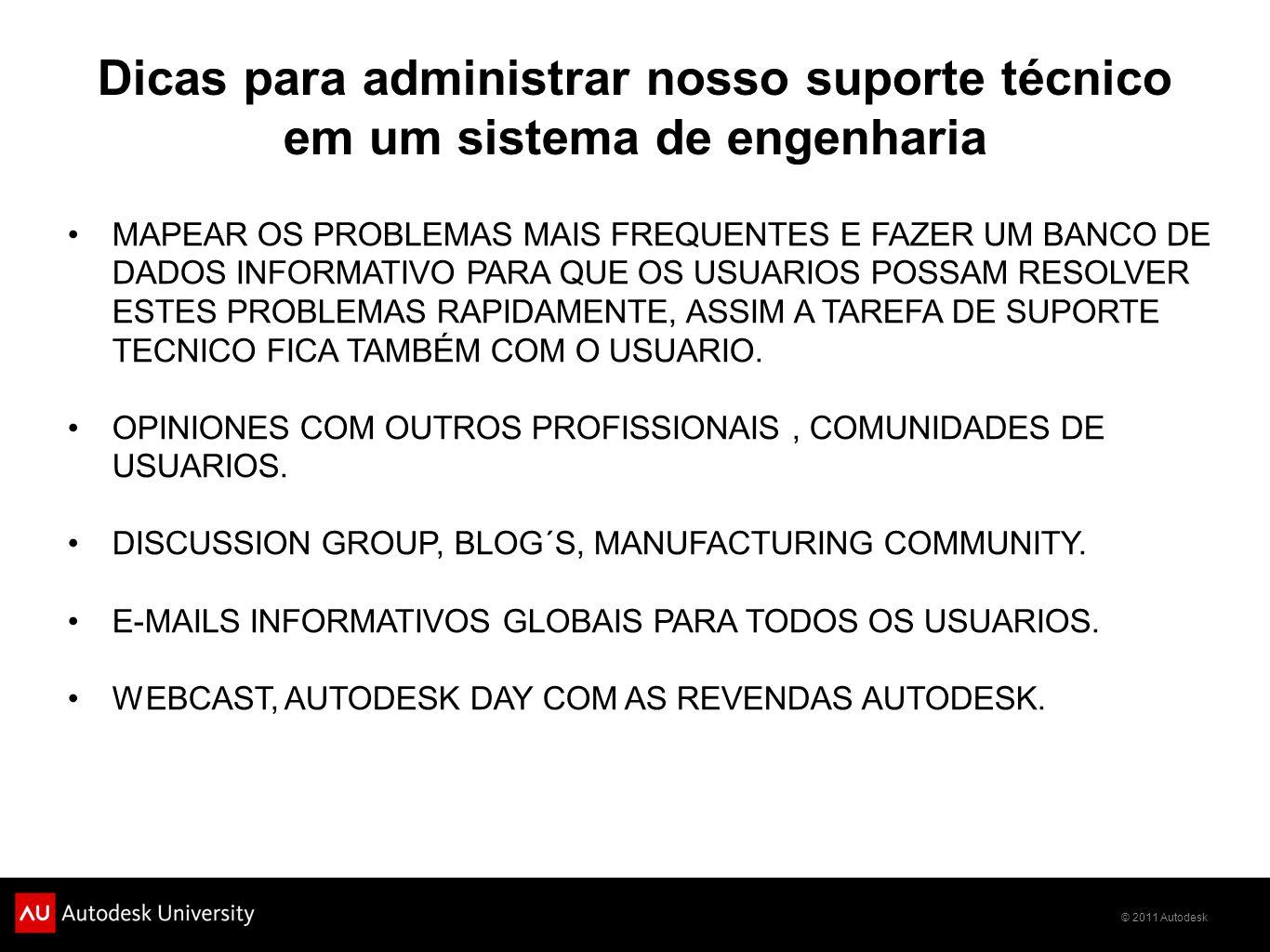 Dicas para administrar nosso suporte técnico em um sistema de engenharia