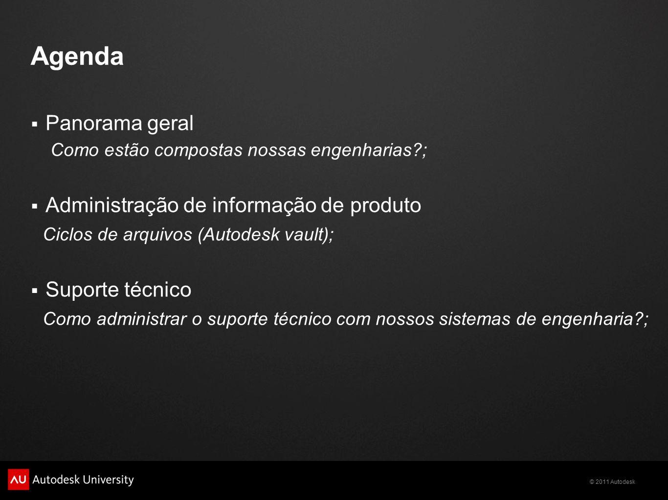 Agenda Panorama geral Administração de informação de produto
