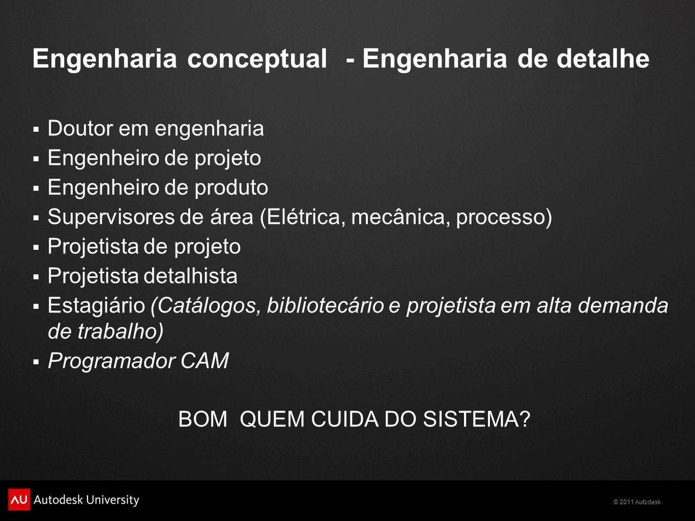 Engenharia conceptual - Engenharia de detalhe