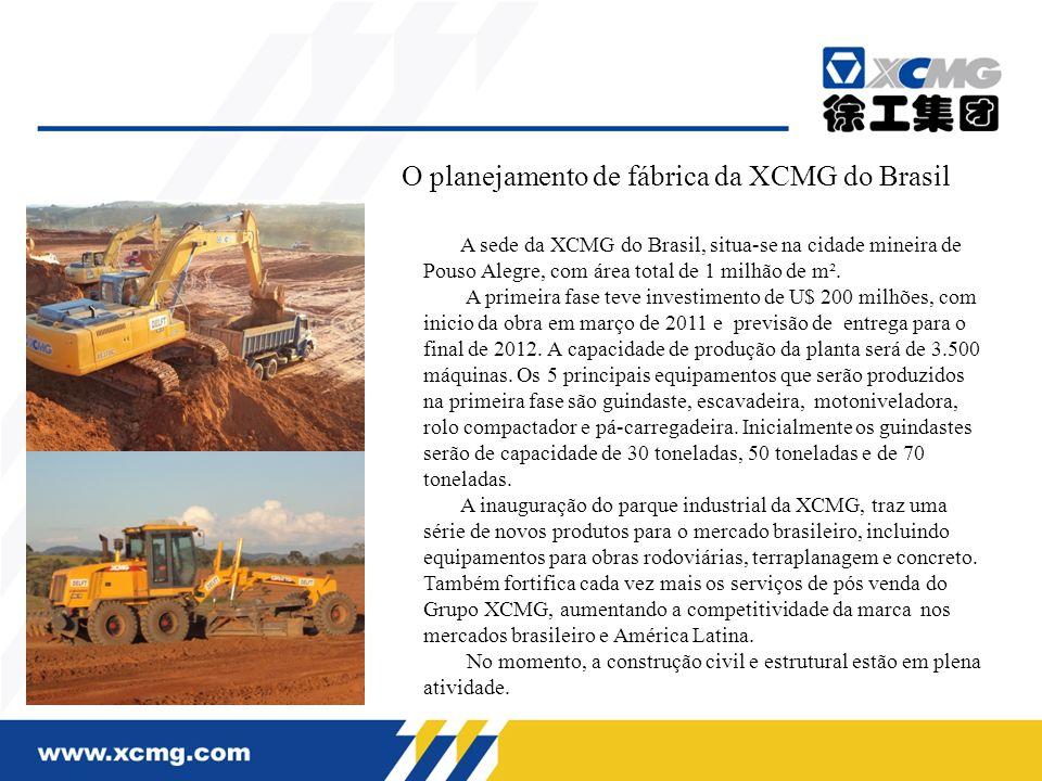 O planejamento de fábrica da XCMG do Brasil