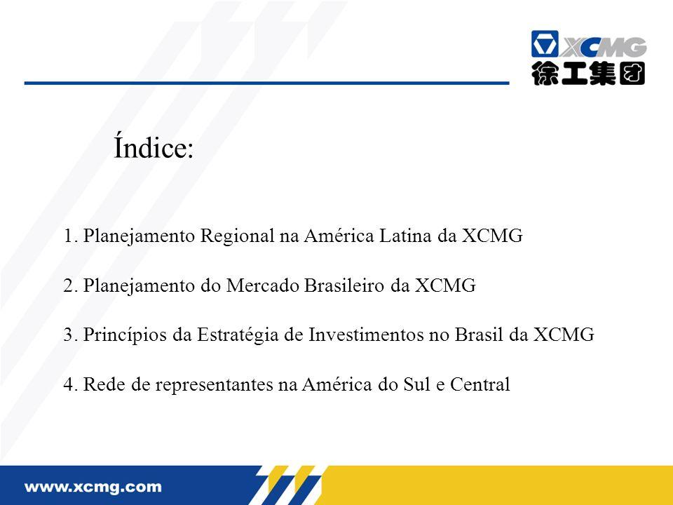 Índice: 1. Planejamento Regional na América Latina da XCMG