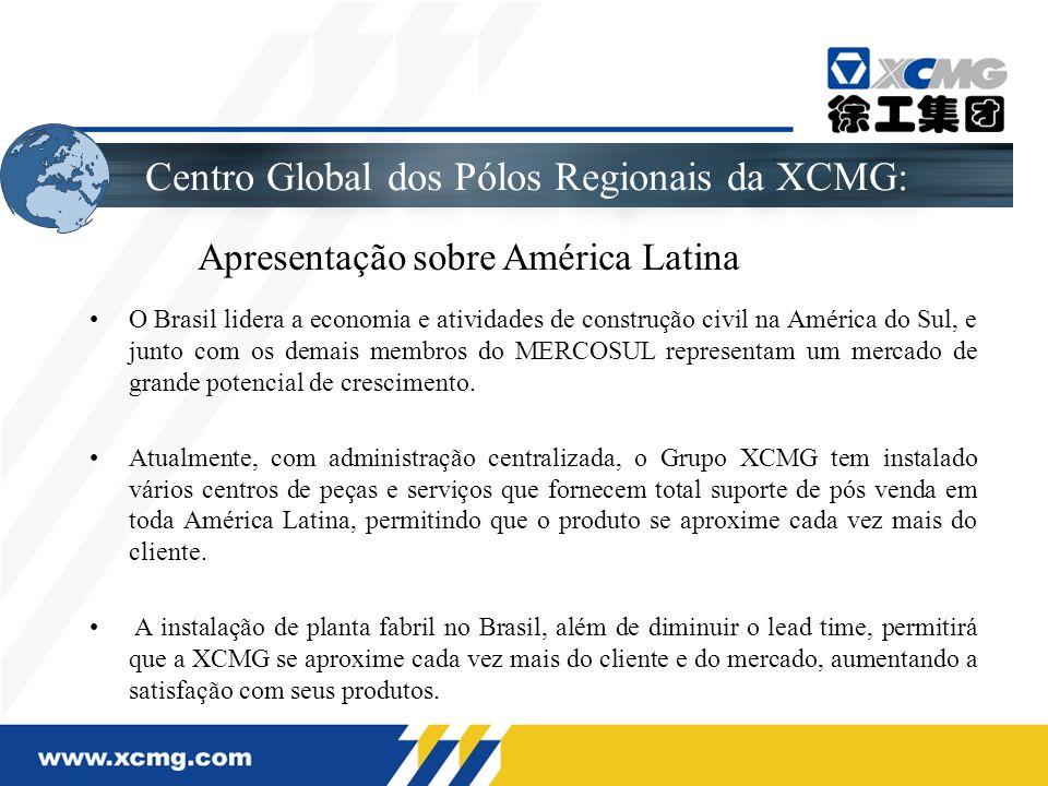 Centro Global dos Pólos Regionais da XCMG: