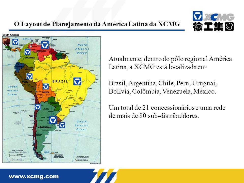 O Layout de Planejamento da América Latina da XCMG