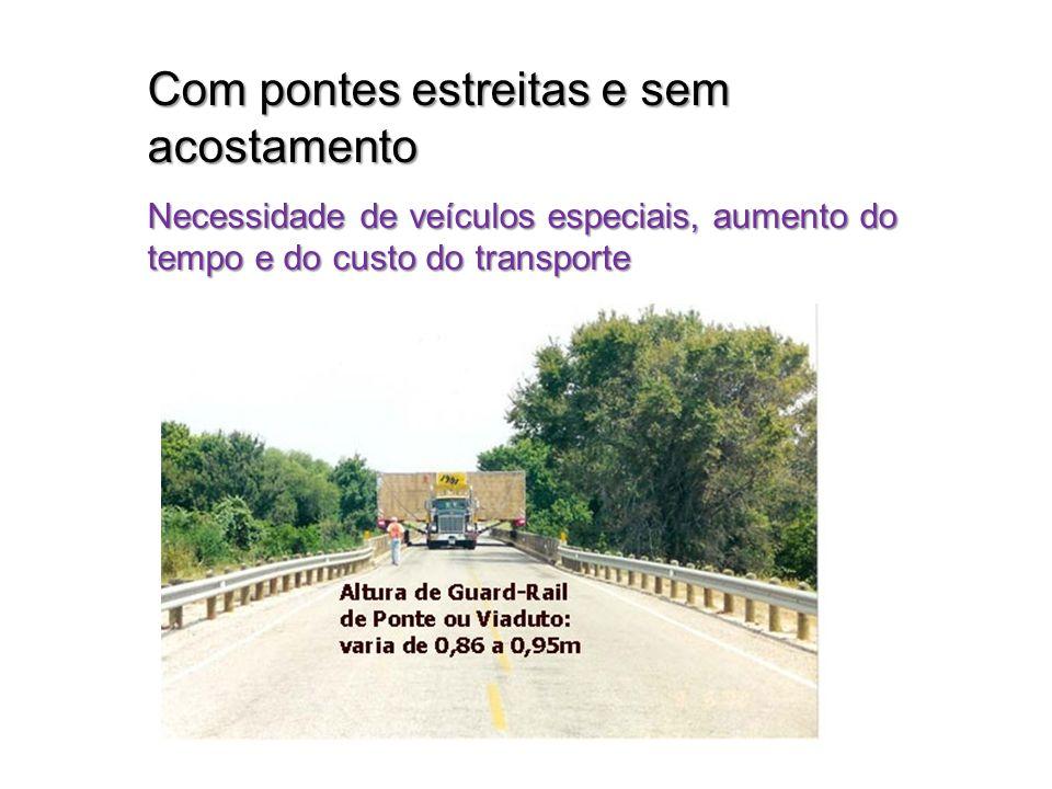 Com pontes estreitas e sem acostamento
