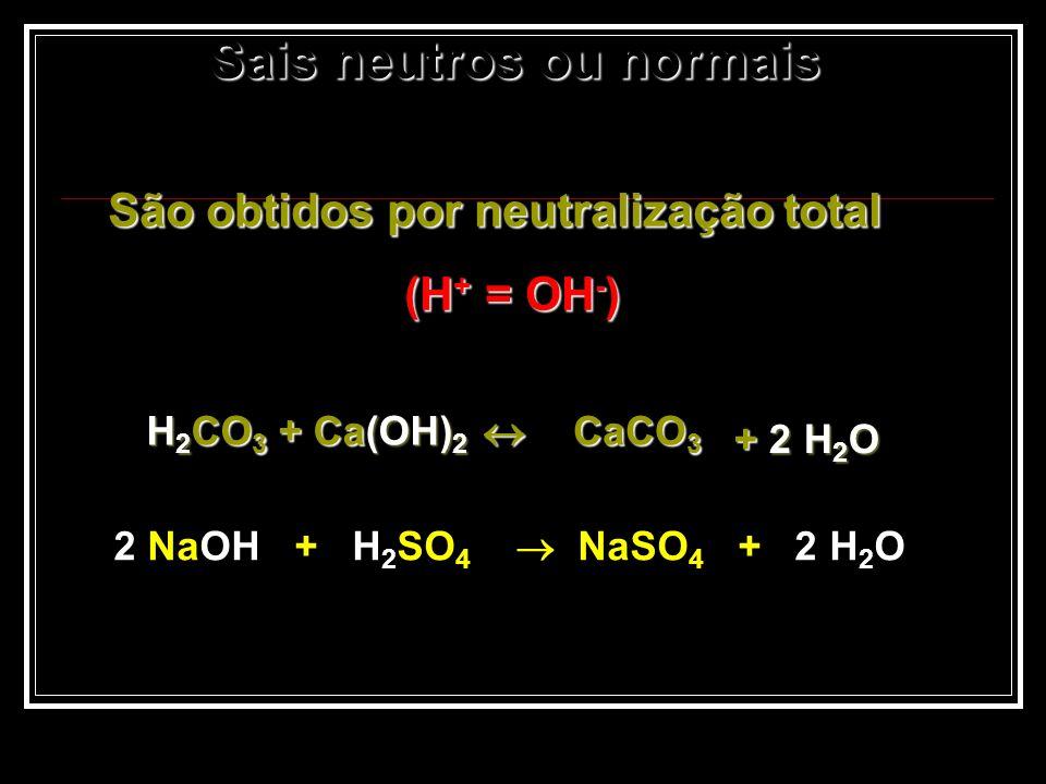 Sais neutros ou normais