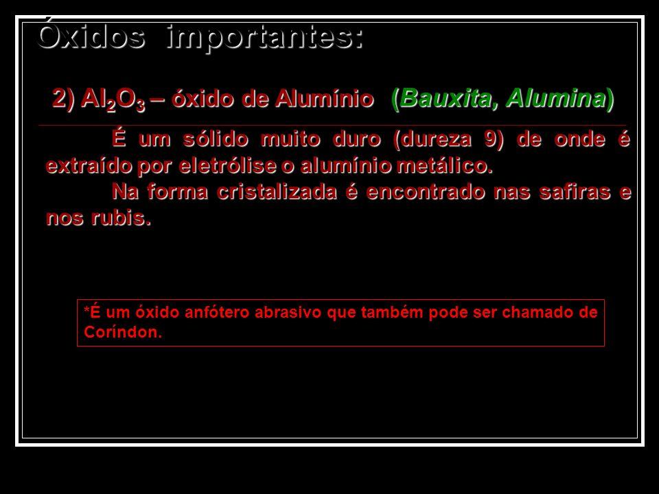 2) Al2O3 – óxido de Alumínio (Bauxita, Alumina)