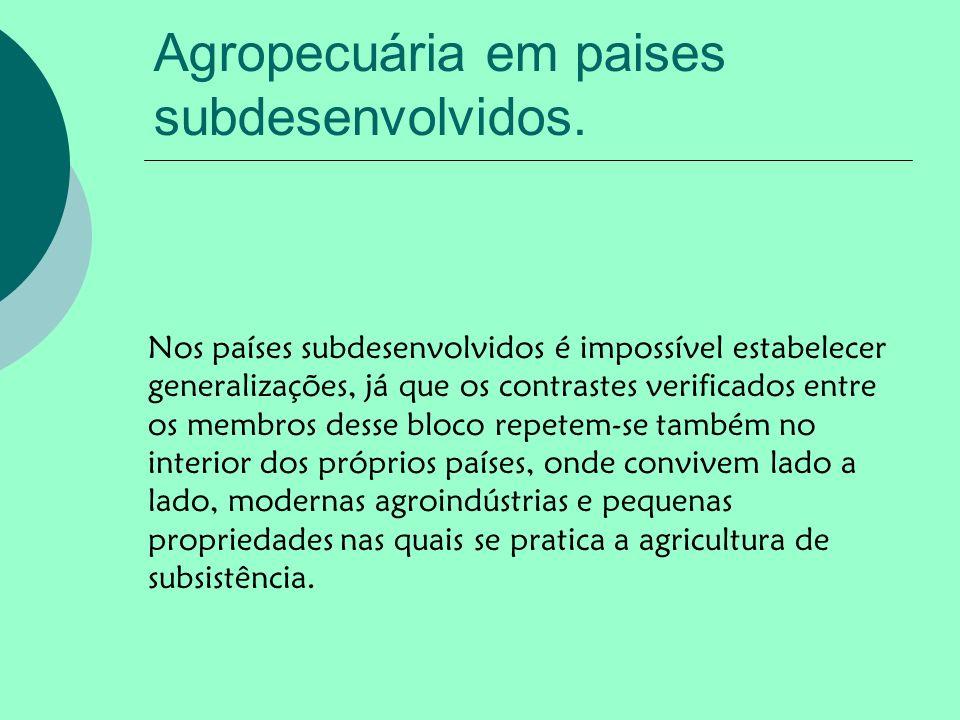 Agropecuária em paises subdesenvolvidos.
