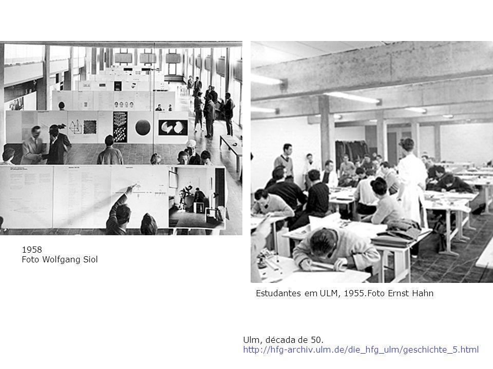 1958 Foto Wolfgang Siol Estudantes em ULM, 1955.Foto Ernst Hahn.