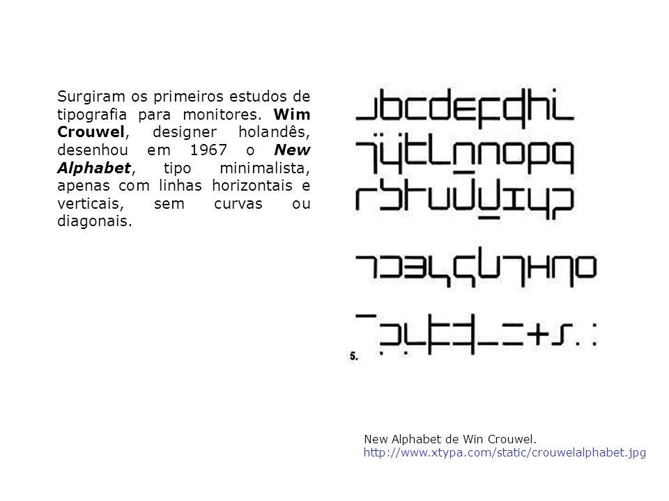 Surgiram os primeiros estudos de tipografia para monitores