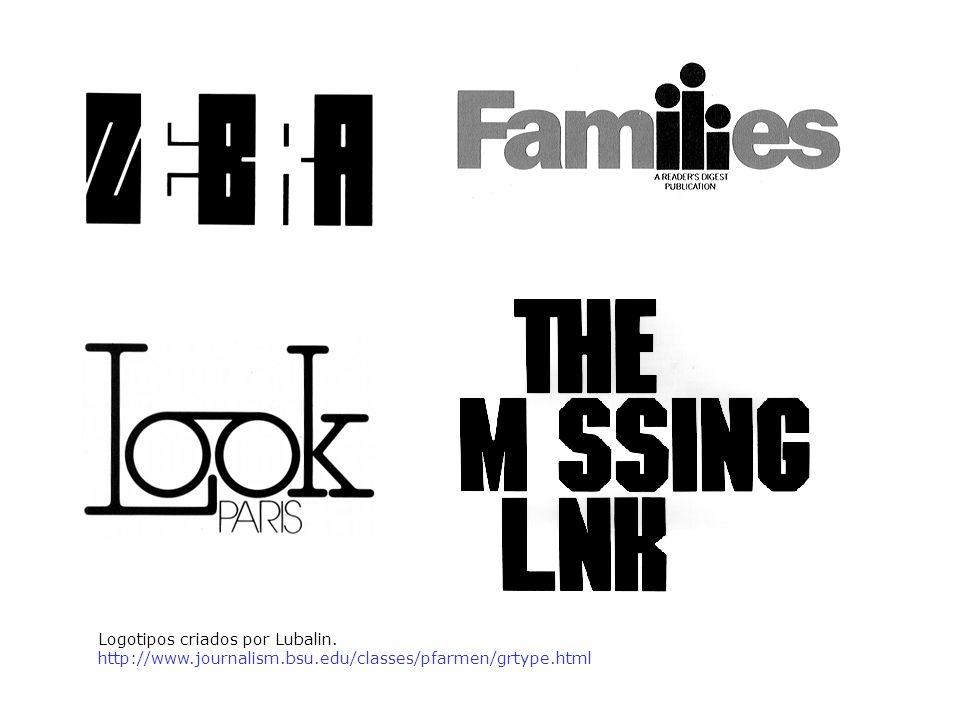 Logotipos criados por Lubalin.