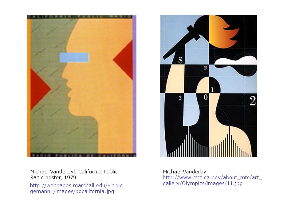 Michael Vanderbyl, California Public Radio poster, 1979.