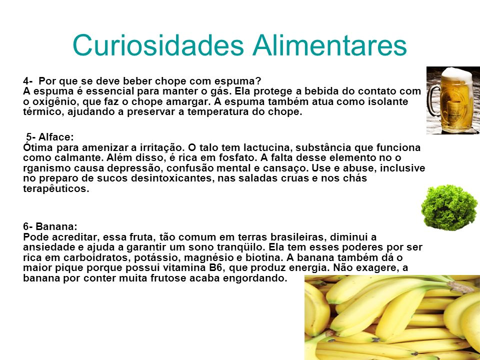 Curiosidades Alimentares