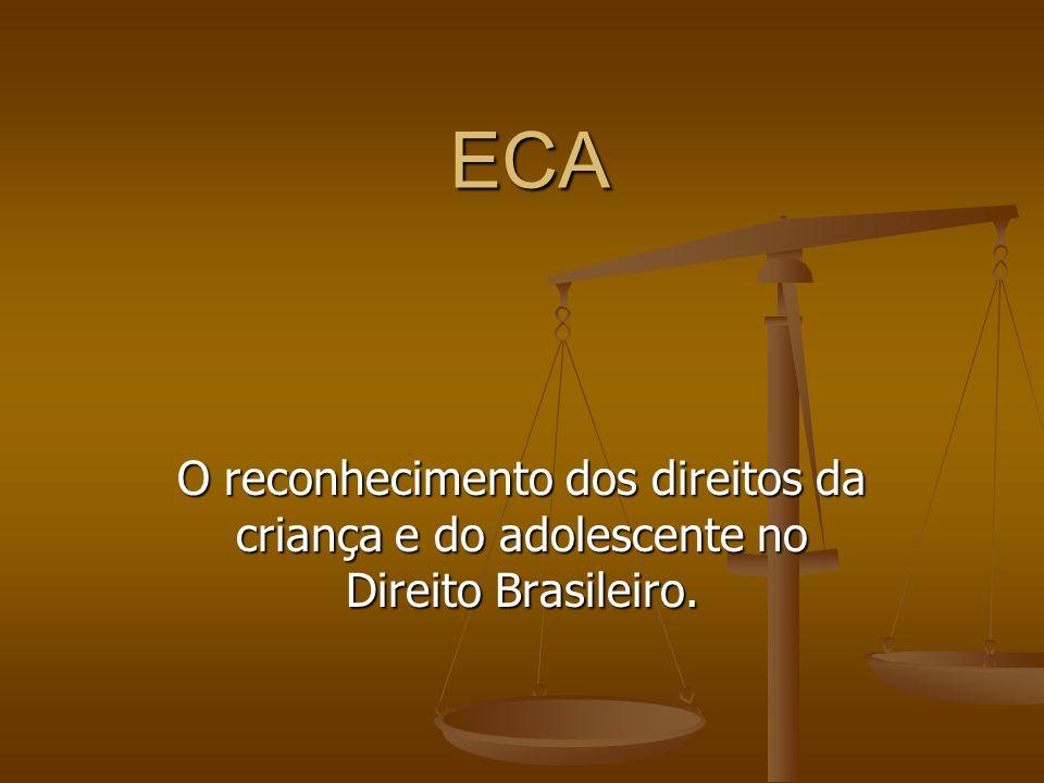 ECA O reconhecimento dos direitos da criança e do adolescente no Direito Brasileiro.
