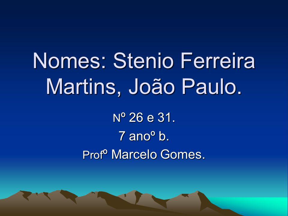 Nomes: Stenio Ferreira Martins, João Paulo.
